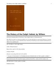 William Beckford, The History of Caliph Vathek.pdf