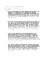students essay about disneyland