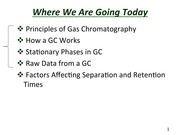 Slides for  Gas Chromatography(1)