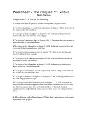 Worksheet 1 - The Plagues of Exodus .docx
