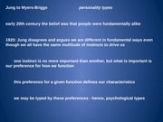 Myers-Briggs to post