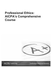 AICPA Ethics Study Guide 1111