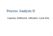 Process Analysis II