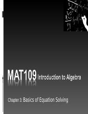MAT109 Introduction to Algebra Live Chat 5.ppt