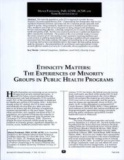 Ethnicity Matters- The Experiences of Minority Groups in Public Health Programs. .pdf