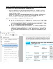 Chapter 14 Audit of the Sales and Collection Cycle Notes.docx