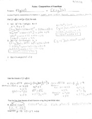 Cal 1 Composition of Functions