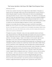 The Curious Incident of the Dog at The Night_Time Response Essay.docx