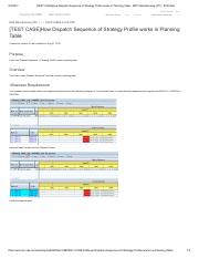 [TEST CASE]How Dispatch Sequence of Strategy Profile works in Planning Table - ERP Manufacturing (PP