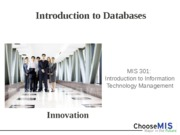 Class 19 - Introduction to Databases