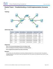 3.2.4.7 Packet Tracer Danny Stevens - Troubleshooting a VLAN Implementation - Scenario 1 Instruction