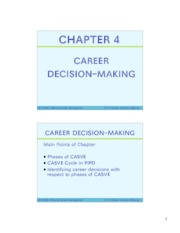 CH4 Career Decision Making