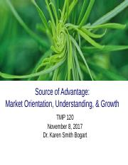TMP 120 Lecture 12 Source of Advantage - Market Orientation, Understanding, and Growth 110817B.ppt