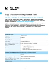 Stage 1 Research Ethics Application Form 07.10.17