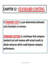 Chapter 9- Standard Costing And Budgeting(STNs)