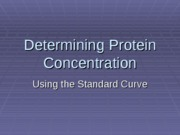 Determining Protein Concentration-1101