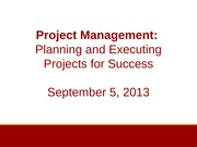 L3 Project Management