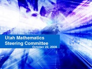 Utah Mathematics Steering Committee