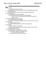 Test 2 Study Guide A