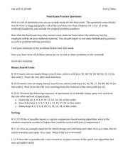 CSE 2011Z 2010W Final Exam Practice Questions