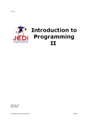 Introduction to Programming 2 - student manual