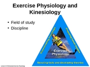 Lecture #3 - Exercise Physiology