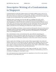 Descriptive Writing of a Condominium in Singapore (1).docx