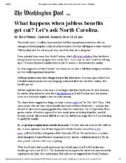 What happens when jobless benefits get cut_ Let's ask North Carolina