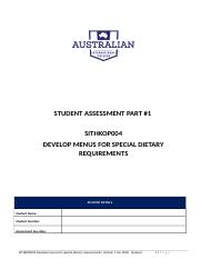 SITHKOP004 Develop menus for special dietary requirements assessment part 1.docx