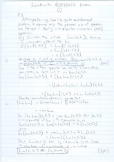Exam 2011 Solutions