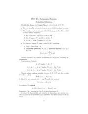 Stat 801  Probability Notes