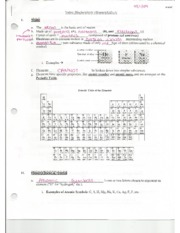 Biology Biochemistry Guided Notes