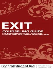Exit Counseling Booklet