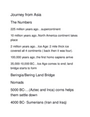 Journey from Asia
