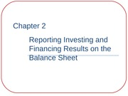 ACCT 2010 Ch. 2: Reporting Investing & Financing Results on the Balance Sheet