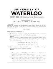 ECON311 Homework2 - Fall 2014 (with solution)