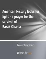 American History looks for light – a prayer