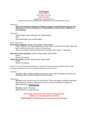 Sample Resume (Recovered).docx