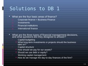 DB 1 Solutions