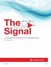 TI - The Signal e-book pdf - A compendium of blog posts on op amp