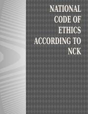 National code of ethics according to nck act2 3.pptx