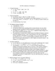Worksheet 1 - Solutions