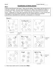 Unit 1 Classification of Matter Activity 2011.doc - Name ...