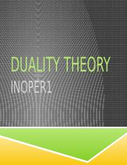 Duality theory_ppt lecture