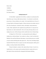 Human trafficking essay