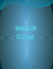 Lecture 3 Water