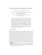 Document Retrieval on Repetitive  Collections