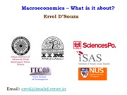 Macroeconomics - What is it about