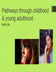 Pathways to childhood and young adulthood.ppt