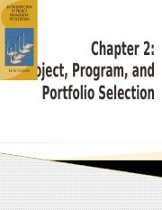 Chapter 2 - Project-Program-Portfolio Selection.pptx